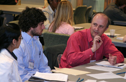 Chemistry Professor Eric Borguet interviews students for CST's SURP program