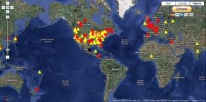 Worldwide map of confirmed Swine Flu cases